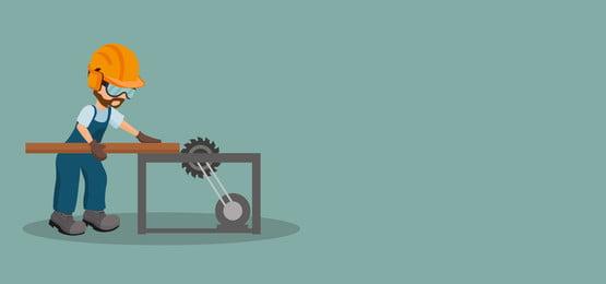nền tảng của thợ mộc nam cắt một tấm ván gỗ với thiết bị an toàn công nghiệp os công nghiệp cưa thiết kế minh họa vector, Thợ Mộc., Thợ Thủ Công, Cẩn Thận. Ảnh nền