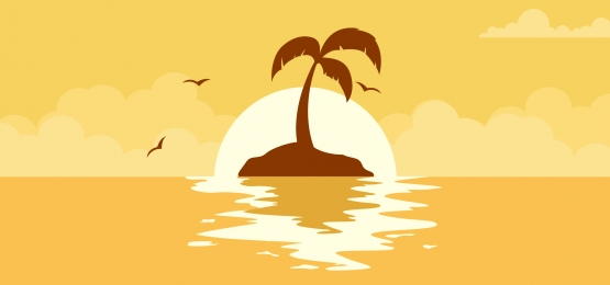 beautiful summer sunset background with sun on the play, Sunset, Beach, Tropical Background image