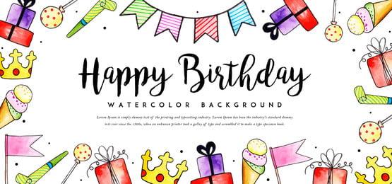 जन्मदिन पृष्ठभूमि, पानी के रंग का, रंग, रंग पृष्ठभूमि छवि
