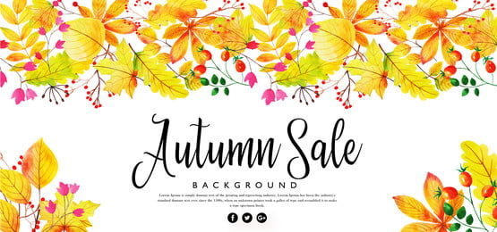 bright abstract autumn background, Watercolor, Paint, Painted Background image