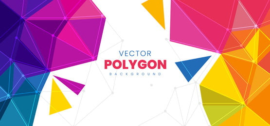 latar belakang poligon abstrak berwarna warni, Latar Belakang, Corak, Abstrak imej latar belakang