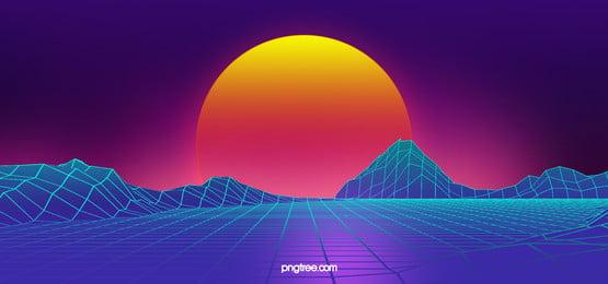 colorful line square digital background, Technology, Digital, Retro Background Background image