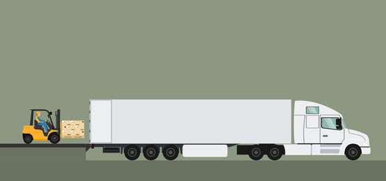 nền trailer thiết kế trailer với xe nâng pallet, Xe Tải, Nhà Kho., Logistics Ảnh nền