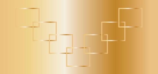 фантастический золотой фон со взаимосвязанными квадратами, обои, градиент, резюме Фоновый рисунок