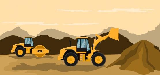 建設および採掘作業を行うフロントローダー基金, ローダー, 機械, ヘビー 背景画像
