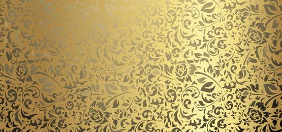 金色和黑色背景與花卉豪華, 瓦片, 裝潢性的, 裝潢 背景圖片