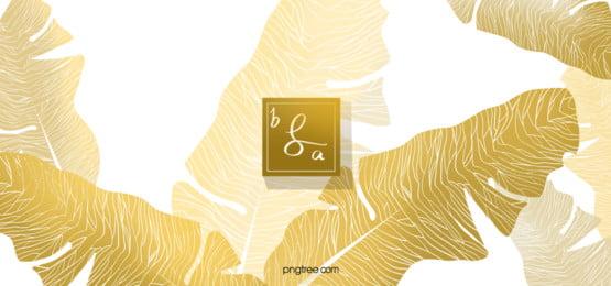 गोल्डन ट्रॉपिकल केले के पत्ते की पृष्ठभूमि, गोल्डन, सोने, केला के पत्ते पृष्ठभूमि छवि