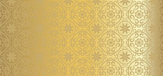 金色工作花卉圓圈背景, 瓦片, 裝潢性的, 裝潢 背景圖片