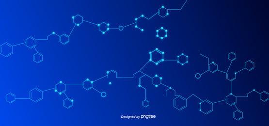 gradient blue minimal chemical element molecular structure, Structure, Molecule, Simple Background image