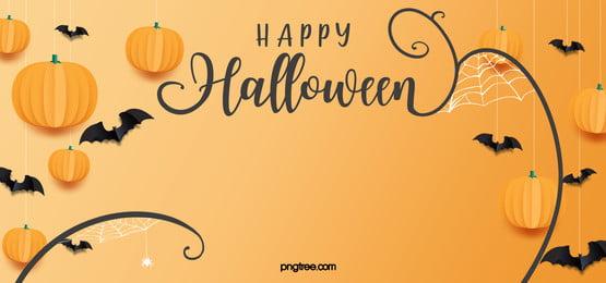 halloween pumpkin lights banner background, Pumpkin Lantern, Bat, Halloween Background image
