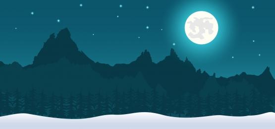 रात में बर्फ के पहाड़ों में परिदृश्य पृष्ठभूमि, अवधारणा, फ्रीज, लंबी पैदल यात्रा पृष्ठभूमि छवि