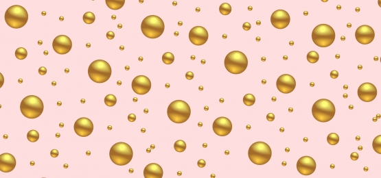 pastel pink background with 3d golden balls, Banner, Background, Golden Background image