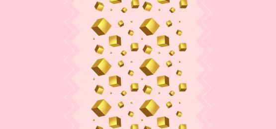3 डी गोल्डन क्यूब्स के साथ पेस्टल गुलाबी पेपर पृष्ठभूमि, गोल्डन, आकार, हल्के पृष्ठभूमि छवि