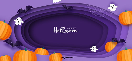 purple geometric halloween banner background, Halloween Background, Bat, Pumpkin Lantern Background image