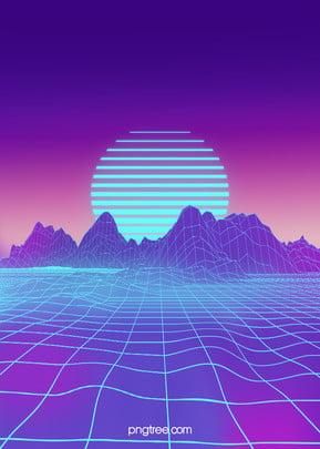 purple hills tech digital background , Technology, Digital Background, Blue Technology Background image
