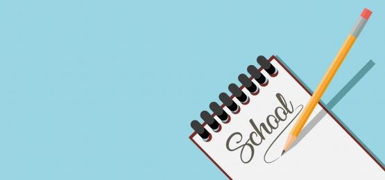 latar belakang kad jadual sekolah dengan notepad dan pensel, Sekolah, Jadual, Banner imej latar belakang