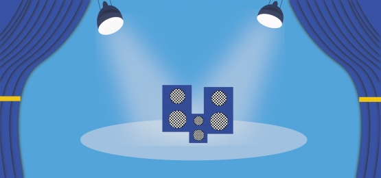 stage background dark blue color with lighting and stereo for wihte color, Stereo, Blue, Abstract Background image