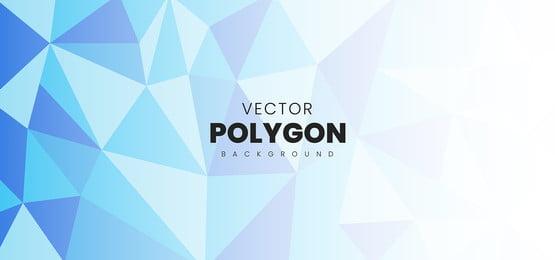 vektor biru abstrak latar belakang poligon, Latar Belakang, Corak, Abstrak imej latar belakang