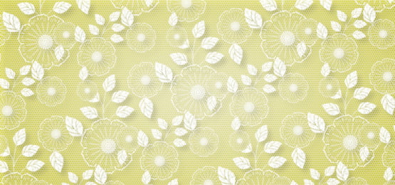 पीले रंग की पृष्ठभूमि पर सफेद फीता फूल पैटर्न, फीता, फूल, पृष्ठभूमि पृष्ठभूमि छवि