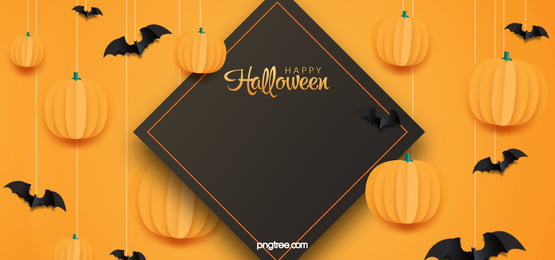 yellow geometric pumpkin lights halloween banner background, Black Bat, Yellow Background, Ghost Festival Background image
