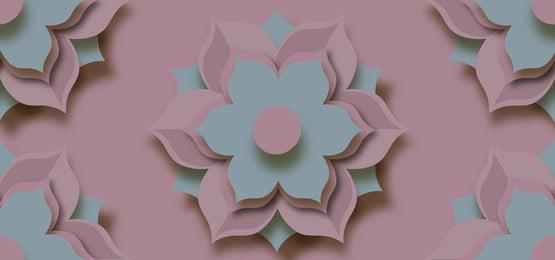 3d floral cutouts pink background, 3d, Floral, Paper Background image