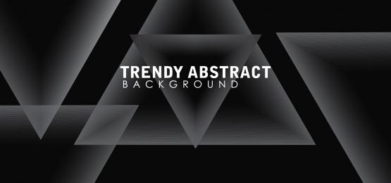 reka bentuk latar belakang grayscale bergaya abstrak dengan bentuk geometri, Bentuk, Abstrak, Latar Belakang imej latar belakang