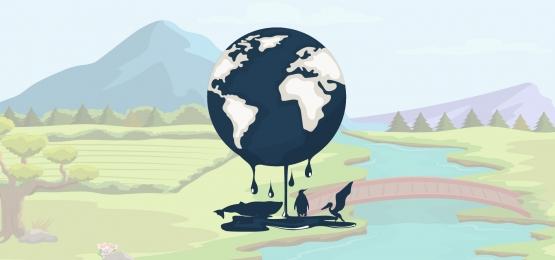 latar belakang planet bumi yang tercemar oleh minyak, Perlindungan, Global, Pemanasan imej latar belakang