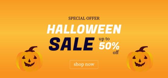 banner halloween sale up to 50 off, Season, Invitation, Autumn Background image