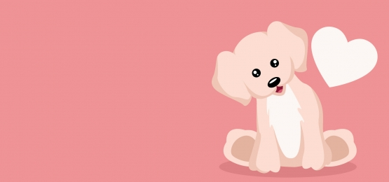 beautiful baby puppy dog love card background, Dog, Day, Vector Background image