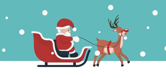 christmas card background of santa claus in his sleigh, Santa, Christmas, Sleigh Background image