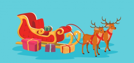 christmas card background of santa claus sleigh and reindeer, Background, Banner, Card Background image