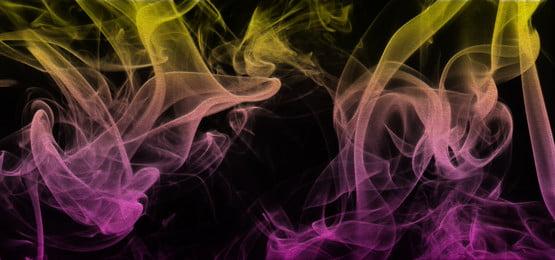 dòng khói đầy màu sắc nền, Thuốc Lá., Bị ảnh Hưởng., Gradient Ảnh nền