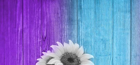 중간에 두 개의 꽃으로 화려한 나무 배경, 꽃, 나무, 패널 배경 이미지