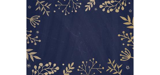 latar belakang papan biru gelap dengan sempadan bunga yang ditarik, Cafe, Menu, Papan Hitam imej latar belakang