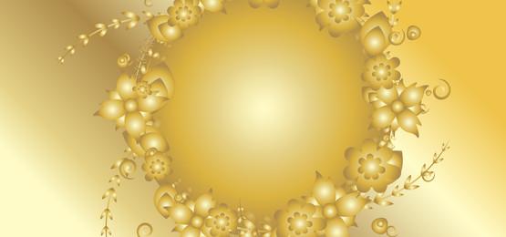 花卉金色背景, 向量, 金, 金色的 背景圖片