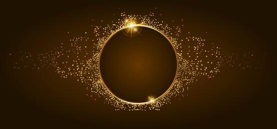 golden glitter and shiny golden frame on brown background, Frame, Circle, Shiny Background image
