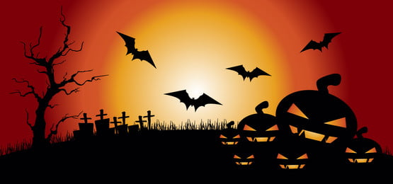 halloween illustration pumpkins on graveyard, October, Illustration, Background Background image