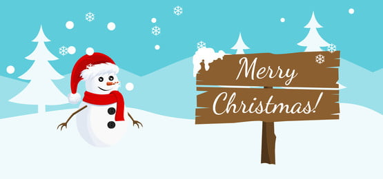 happy new year and happy christmas day landscape card design background with snowman bear winter scene, Card, Festivity, Snowman Background image