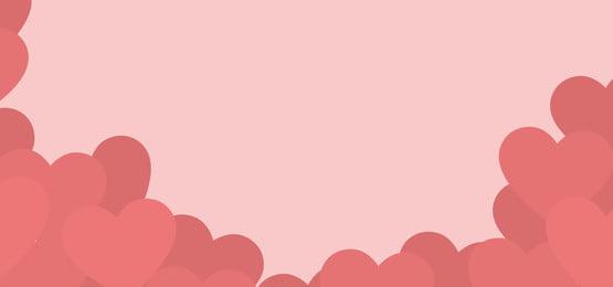 गुलाबी दिलों की पृष्ठभूमि, दिल, सफेद, दिन पृष्ठभूमि छवि
