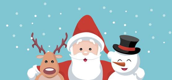 santa claus tuần lộc và tuyết gấu nền giáng sinh, Giáng Sinh., Ông Già Noel., Tuần Lộc Ảnh nền