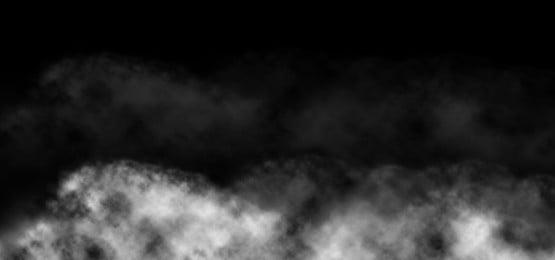 latar belakang kesan asap putih pada warna hitam, Asap, Latar Belakang Asap, Asap Kesan imej latar belakang