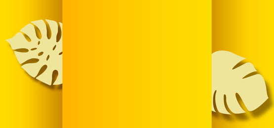 yellow gradient background with paper leaves cutouts, Paper, Background, Leave Background image