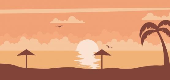 समुद्र तट पर एक सुंदर सूर्यास्त की पृष्ठभूमि, सूर्य का अस्त होना, समुद्र तट, उष्णकटिबंधीय पृष्ठभूमि छवि