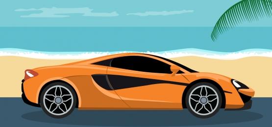 nền tảng của một chiếc xe thể thao sang trọng trên bãi biển, Lái Xe., Trắng., Bánh Xe Ảnh nền