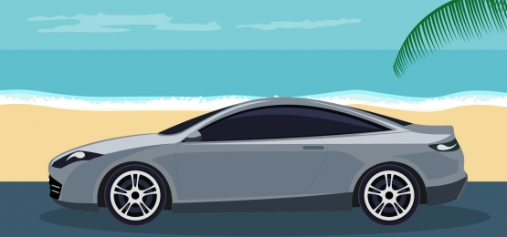 background of luxury sports car on the beach, Summer, Sale, Background Background image