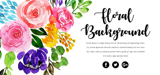 прекрасный цветочный фон акварели, акварели., цвет, художественные Фоновый рисунок