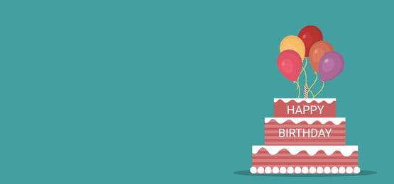 जन्मदिन के लिए गुब्बारे के साथ सजाया गया केक, केक, जन्मदिन, मोमबत्ती पृष्ठभूमि छवि