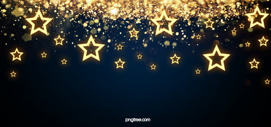 bintang emas kreatif rata bersinar latar cahaya kesan, Golden, Bintang-bintang, Bersinar imej latar belakang