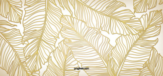 金色質感葉子紋理線條背景, 金色 質感 葉子 紋理 線條 背景 背景圖片