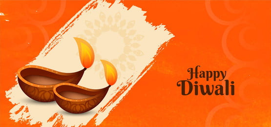 happy diwali banner with decorative diya, Diwali, Background, Abstract Background image